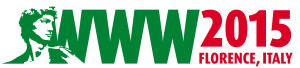 WWW 2015 logo shows the head of Michelangelo's David next to WWW