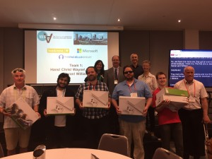 The hack winners, with their XBoxes