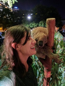 Posing with a Koala