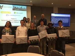 The Hack runners' up, with their XBoxes
