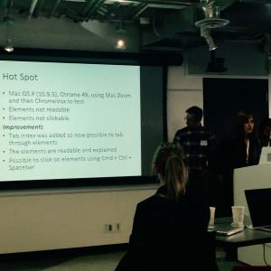 team 7 presenting their hotspots work.